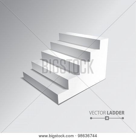 Stairs Isolated On Grey Background. Steps.