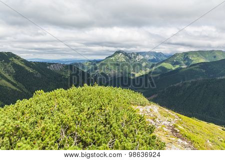 Western Tatra Mountains Landscape In Poland