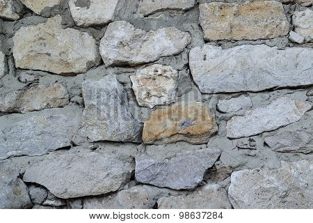 The Wall Of Rough Hewn Large Stones