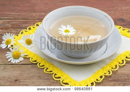 Herbal Medicine: Curative Tea With Chamomile