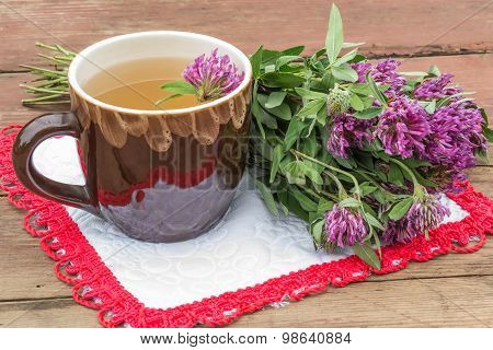 Delicious Herbal Tea With Clover