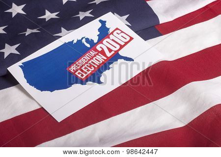 Presidential Election Vote And American Flag