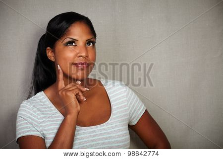 Attractive Woman Planning While Looking Away