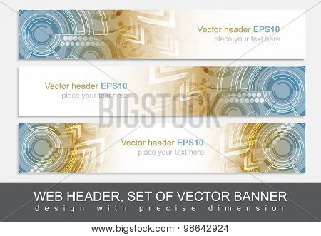 Website header or banner with abstract technological pattern