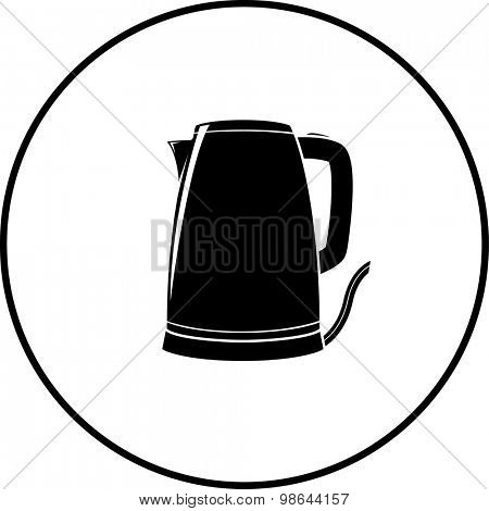 electric kettle symbol