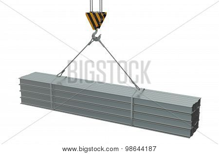 Crane Hook With Rolled Metal I-beam