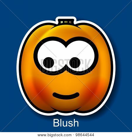 Vector Halloween Smiley Blush