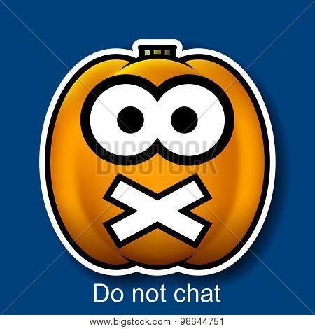 Vector Halloween Smiley Do Not Chat