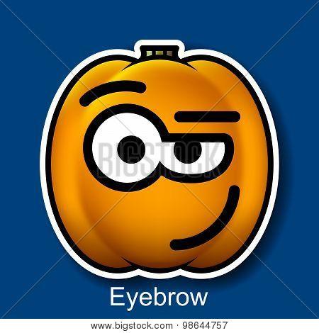 Vector Halloween Smiley Eyebrow