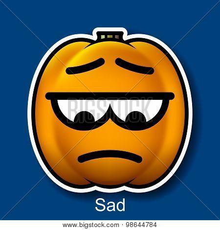 Vector Halloween Smiley Sad