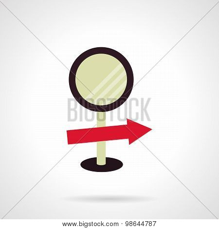 Information sign flat vector icon