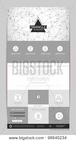 Abstract Geometric Triangle Concept Web Site Design. Corporate Identity