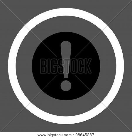 Problem flat black and white colors rounded vector icon