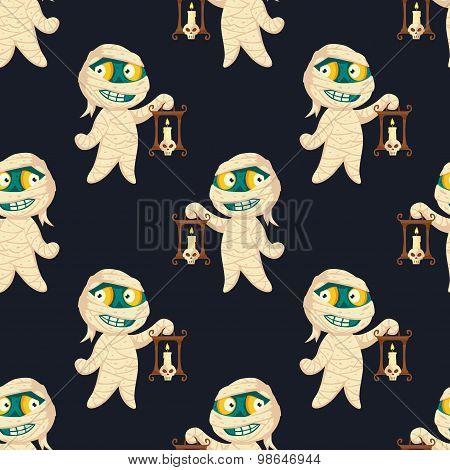 Halloween Seamless Mummy Pattern