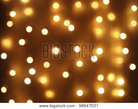 Abstract Image - Round, Yellow And Dim Lights