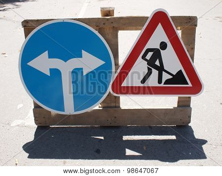 Roadworks And Detour
