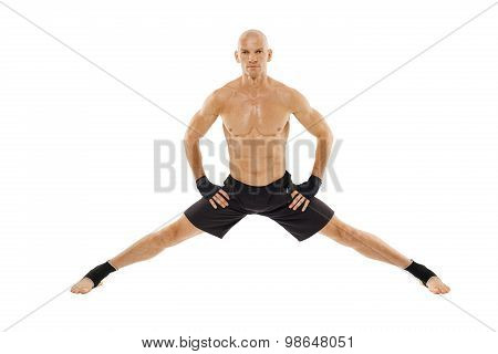 Kickboxer Executing A Split