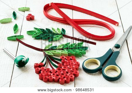 Quilling: Strips Of Paper, Rowan, Scissors