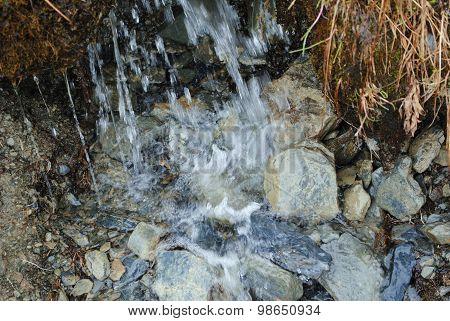 Mountain Waterfall Close-up