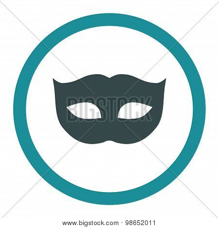Privacy Mask flat soft blue colors rounded raster icon