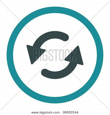 Refresh Ccw flat soft blue colors rounded raster icon