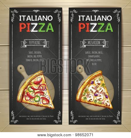 Set Of Pizza Menu Banners