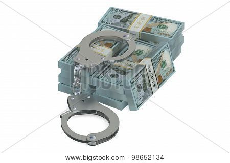 Handcuffs And Dollars, Crime Concept