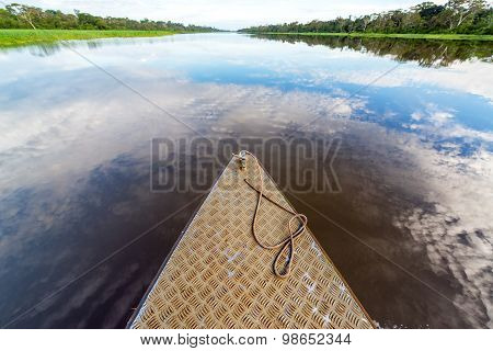 Boat And Sky Reflection