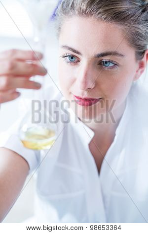 Young Chemist Analyzing Results