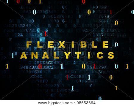 Business concept: Flexible Analytics on Digital background
