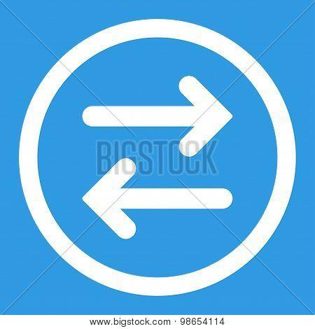 Flip Horizontal flat white color rounded raster icon