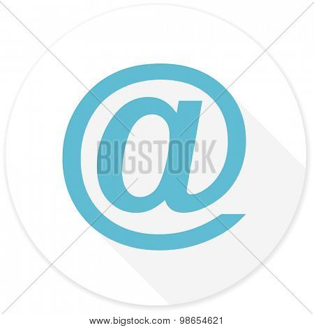 email flat design modern icon with long shadow for web and mobile app