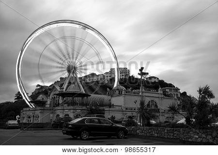 Long Exposure Of A Feris Wheel