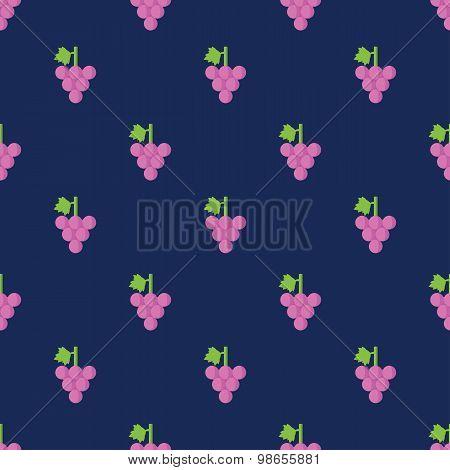 Seamless Grape Pattern Background