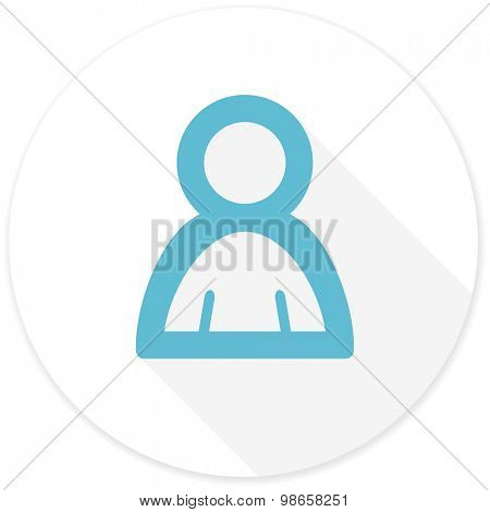 person flat design modern icon with long shadow for web and mobile app