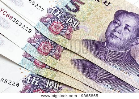 Background Of Chinese Money - Five Yuan
