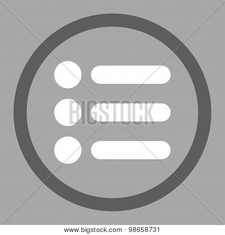 Items flat dark gray and white colors rounded raster icon