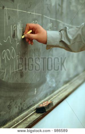 Writing On Balckboard