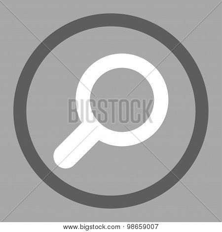 View flat dark gray and white colors rounded raster icon