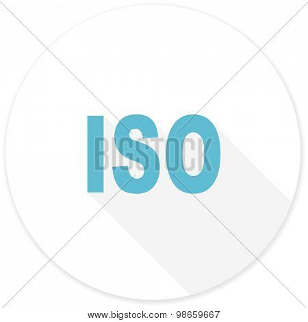 iso flat design modern icon with long shadow for web and mobile app