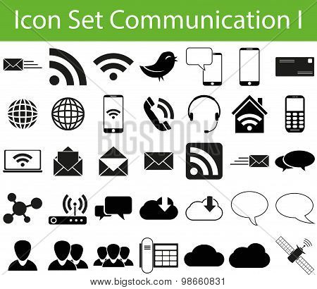 Icon Set Communication I
