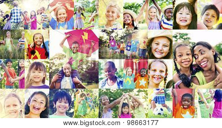 Children Family Enjoyment Playful Summer Casual Concept