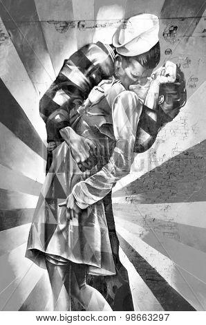 Mural by artist Brazilian artist Kobra