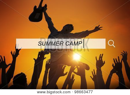 Summer Camp Vacation Holiday Leisure Happiness Concept