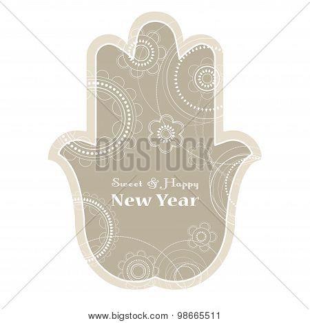 Jewish holiday background. Rosh Hashanah holiday card