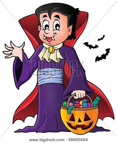 Halloween vampire theme image 1 - eps10 vector illustration.