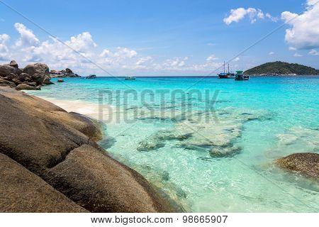 Beautiful Beach At Koh Miang In Mu Koh Similan, Thailand