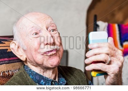 Older Gentleman With Smartphone