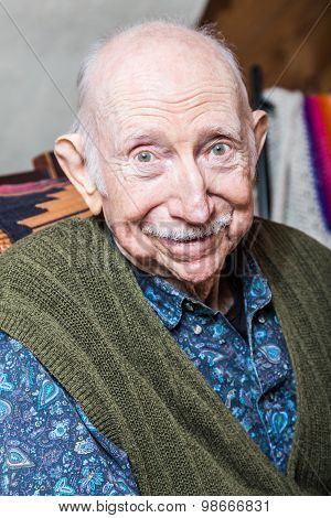Elder Man Smiling At Camera