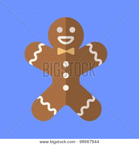 Gingerbread man icon. Vector illustration.